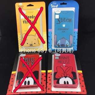 iPhone 6S / 6(可共用)正版授權、迪士尼、手機皮套、米奇、米妮、史迪奇、半頭米妮、半頭史迪奇、#半價良品市集