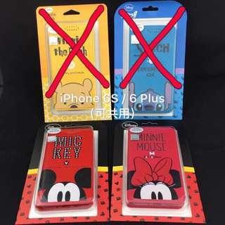 iPhone 6S / 6 Plus(可共用)正版授權、迪士尼、手機皮套、米奇、米妮、半頭米奇、半頭米妮、#半價良品市集