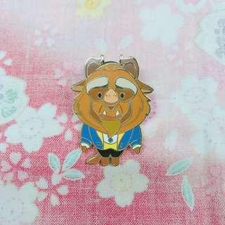 上海 迪士尼襟章 2016 貝兒 野獸 Belle Beast Disney Pin Limited Release