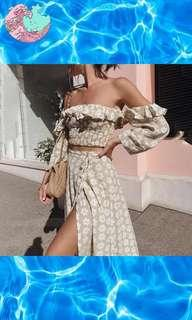 Twist Off Shoulder Casual Party Dress