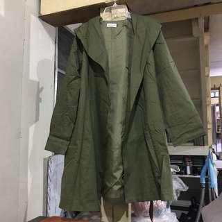 Amry Green Trench Coat