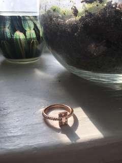 PANDORA Rose Gold Princess Cut Ring
