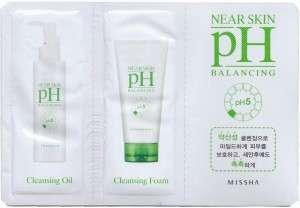 🚚 ☆ Makeup Remover & Cleanser ☆ Missha Near Skin PH Balancing Cleansing Oil 2ml + Cleansing Foam 2ml  ( Sachet ) ☆ Great for Travel or After Gym ☆