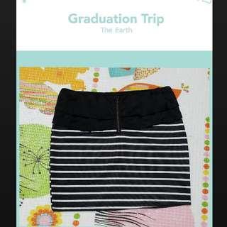 條紋短裙 包裙