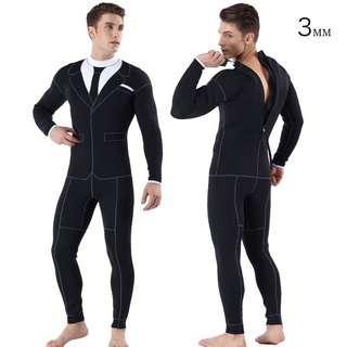 3mm 膠衣 保暖 打魚 潛水衣 wetsuit