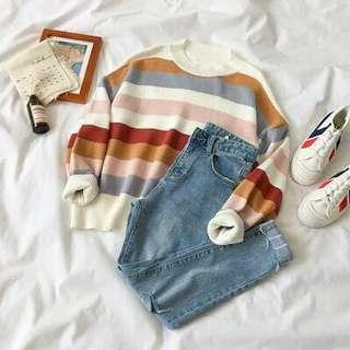 Knitted Sweater Stripes