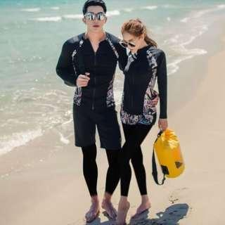 In Stock 💕Couples Korean version of UV Rash Guard, Sports wear, Swimwear