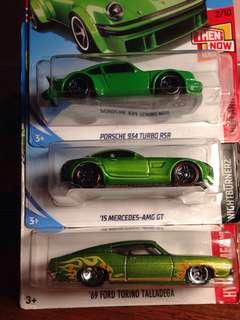🔥Hotwheels in green🍀
