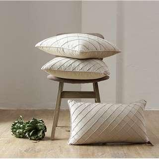 Rustic Geometry-Linen Cushion Cover