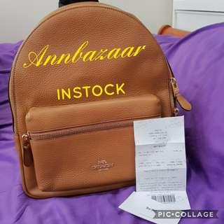 INSTOCK SPECIAL OFFER! Coach Charlie Medium Backpack- Light Saddle (100% Authentic)