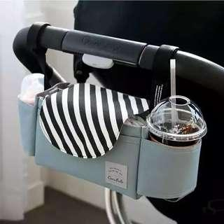 Baby Stroller Accessoris Bag Cup Holder Bag Stroller Organizer Baby Carriage Pram Buggy Cart Bottle Bag Car Tote Bag Portable Diapers Caddy Organizer