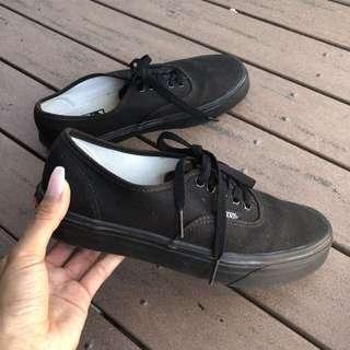 Black authentic vans