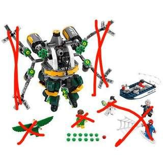 LEGO 76059 marvel Spider-Man doc ock (不連人仔及機械臂)
