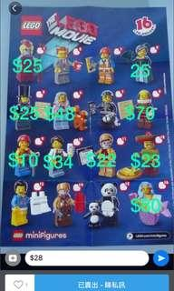 Lego 71004 the movie minfig 人仔