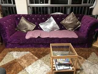 purple diamond sofa