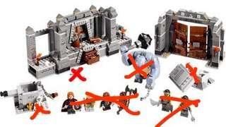 Lego 9473 load of ring 魔戒 淨場景(不連人仔)(已砌)