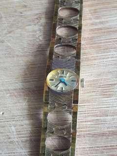 Enicar lady 50s gold plated bracelet retro watch.