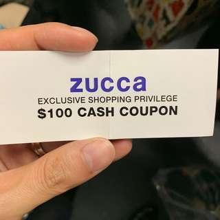 Zucca 現金券 現金卷 cash coupon voucher 名牌時裝 fashion clothes jackets 買靚衫 jeans dress