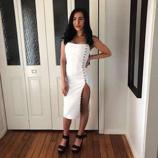 Beginning Boutique size 6 white strapless dress