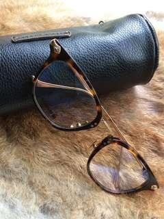 美國Chrome Hearts  琥珀框金(黑框銀)雅痞眼鏡