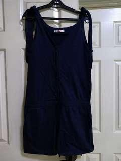 Never Been Kissed navy blue romper