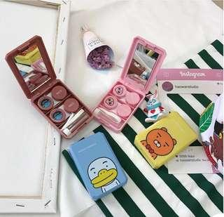 [PO] Line Characters Ulzzang Contact lenses case /O/