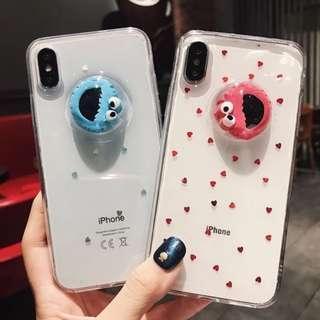 [PO] Sesame Street Elmo Cookie monster Clear Phone Case /O/