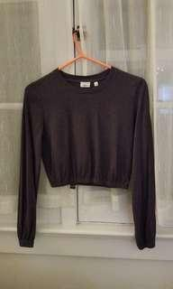 Wilfred long sleeve cropped top, XS