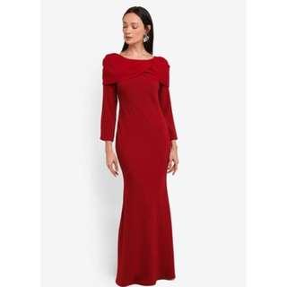 Alia Bastamam Kate Dress In Red