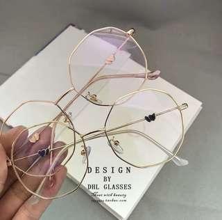 [PO] Round Hexagon Circle Ulzzang Korean Glasses /A/