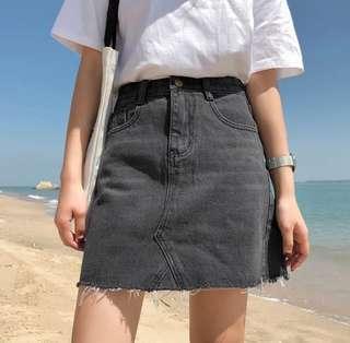 [PO] Ulzzang Korean A-line Denim Skirt /C/
