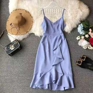 🚚 [PO] Ulzzang Elegant Midi length dress /C/