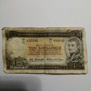 Commonwealth of Australia ten shillings