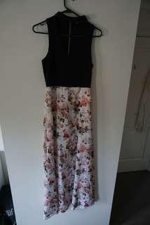 ✨ RENT - floor length floral dress
