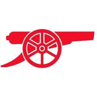 🚚 Arsenal Cannon [Car Decal / Sticker Vinyl] (FREE Mailing)