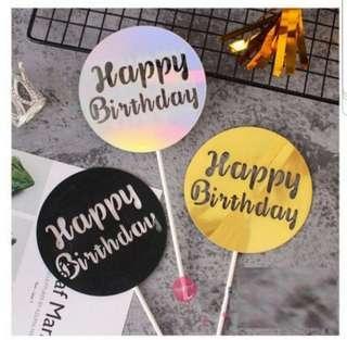 🚚 (3 for $7.50)Happy Birthday Cake Topper