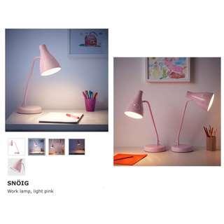 Ikea - Snoig Work Lamp, Pink