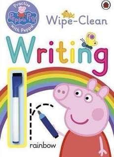 Peppa pig 可擦式練字簿