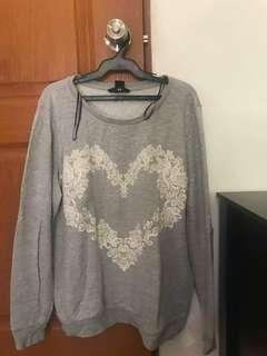H&M Heart Pullover