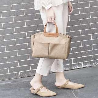 Korean Canvas Tote With Slings