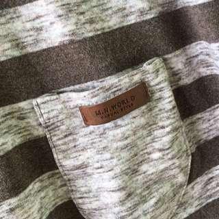 Kaos Stripe Coklat