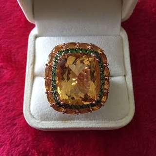 (SOLD) LUXURY!! Chunky citrine cocktail ring