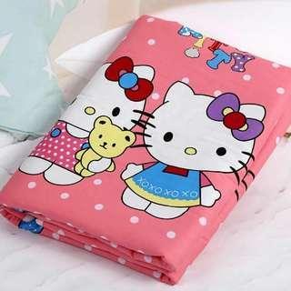 粉色kitty 棉質防水隔尿墊 尿布墊 生理期墊 寵物墊