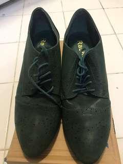 墨綠色紳士鞋高跟鞋40 碼