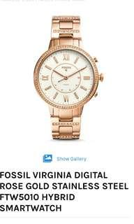 Brand new Fossil FTW 5010 Virginia Rose Gold-Tone watch