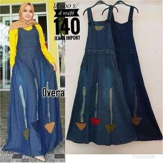 Overall jeans gamis