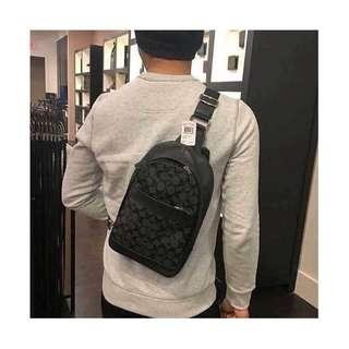 Authentic Coach Charles Pack In Signature F54787 - Charcoal/Black