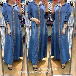 Long dress blue jeans