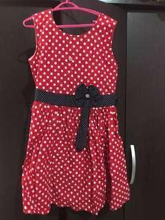 Kids Polkadot Dress Bow Ribbon