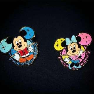 Tokyo DisneySea Mickey and Minnie Mouse pin